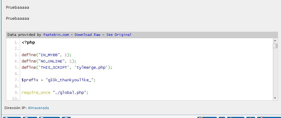 MyBB - Mods - Pastebin embeded plugin