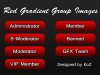 (120x30) Red Gradient Usergroup Bars