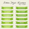 A Full Green Ribbon Style Userbar Pack